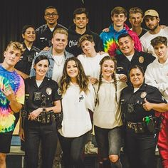 A truly humbling day for us all. Thank you #LAPD!  (Also, this is why we can't take @emiliovmartinez places ) #team10 // @jakepaul @thenickcrompton @imanthonytruj @tessabrooks @erikacostell @imchancesutton @justinroberts44 @chadtepper @ivanmartinez