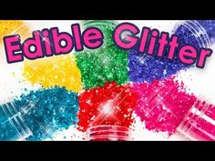 How to Make Edible Glitter 3 Different Ways! (Cake Decorating DIY) - YouTube