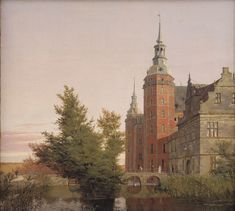 Christen Købke (1810-1848): Frederiksborg Slot. View near the Møntbro Bridge, 1836, Staatens Museum fur Kunst, Copenhagen