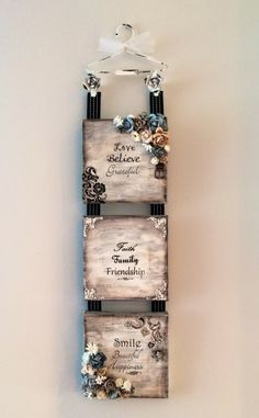 Wall Hanging- no pictorial but she has explained how she made this beautiful wall hanging Means So Much, Beautiful Wall, Art Journals, Art Tutorials, Albums, Meant To Be, Scrapbooking, Craft Ideas, Inspirational
