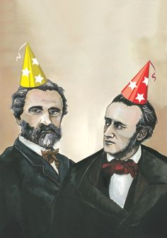 Verdi and Wagner; Happy Birthday to both; both born in 1813, this year they turn 200!!