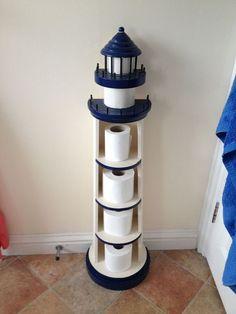 Lighthouse Decor For Bathroom Design Coastal Living Nautical lighthouse bathroom decor - Bathroom Decoration Nautical Bathroom Design Ideas, Beach Theme Bathroom, Nautical Bathrooms, Beach Bathrooms, Bathroom Designs, Nautical Decor Ideas, Anchor Bathroom, Beachy Bathroom Decor, Bathroom Theme Ideas