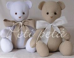 > Here such a bear can be sewn and put in the baby's bedroom. Discussion on LiveInternet - Russian Online Diary Service Sewing Toys, Baby Sewing, Sewing Crafts, Sewing Projects, Fabric Animals, Sock Animals, Felt Dolls, Doll Toys, Felt Patterns