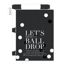 Ball Drop Party Invitations