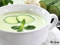 Cucumber nutrition helps you detox and lose weight, plus so much more. Read more about cucumber nutrition and take home these healthy cucumber recipes. Healthy Soup Recipes, Detox Recipes, Raw Food Recipes, Healthy Snacks, Healthy Eating, Cooking Recipes, Clean Eating, Healthy Hair, Diet And Nutrition