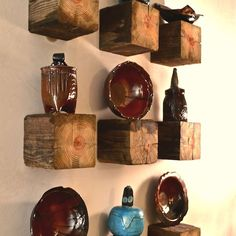 1 Post = 9 Rustic Elegant Shelves