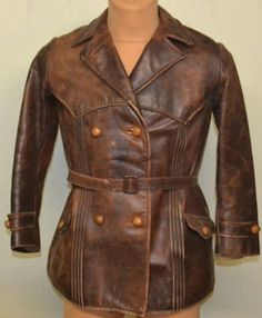Original-1920s-German-Flight-Horsehide-1930s-Leather-Jacket-Motorcycle-Coat