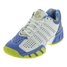 K-Swiss Women's Bigshot Light 2.5 50th Tennis Shoe, 50th/White/Ultramarine/Gold, 6.5 M US >>> Learn more by visiting the image link.
