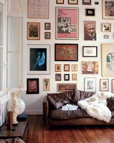 Love the skewed scale created by floor to ceiling frames