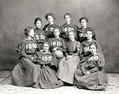 Vassar 1900 Class Basketball Team How the WORLD do you play any sport in that much fabric??