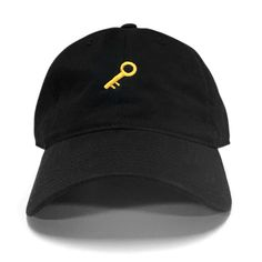Key Dad Hat ($23) ❤ liked on Polyvore featuring accessories, hats, baseball caps hats, 6 panel baseball cap, baseball cap, ball cap hats and ball caps