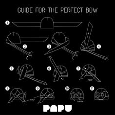 Guide for the perfect bow Sewing Hacks, Sewing Projects, Recycled Dress, Diy Dress, Sewing For Kids, Pattern Making, Handicraft, Diy Fashion, Knit Crochet
