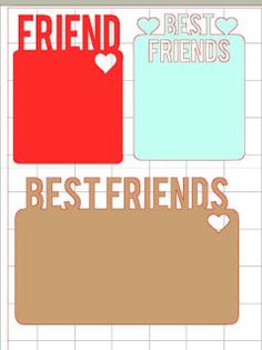 free Cutting files: 'Best Friend' & 'Love This'
