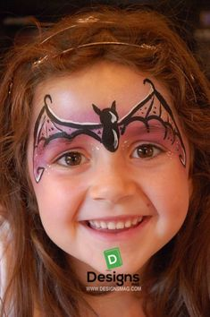 Halloween girl simple makeup – our choice of cute or scary ideas Loading. Halloween girl simple makeup – our choice of cute or scary ideas Face Painting Halloween Kids, Halloween Makeup For Kids, Girl Face Painting, Face Painting Designs, Halloween Facepaint Kids, Halloween Ideas, Halloween Zombie, Halloween Costumes, Bat Face Paint