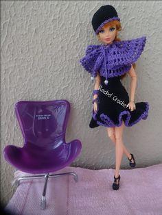 #Doll #Crochet #Vestido #Dress #Vestido #Barbie #RaquelGaucha