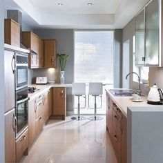 Functional seating | Small kitchen design | PHOTO GALLERY | Beautiful Kitchens | Housetohome.co.uk