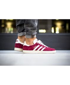 best service f55a4 9027b Adidas Originals Gazelle OG Burgundy Trainer