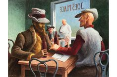 Thomas Hart Benton painting sells for over $1 million at Leslie Hindman Auctioneers homas Hart Benton, Discussion, 1967