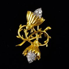Tiffany Schlumberger diamond flowers pin