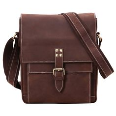 Leathario Retro Mens Leather Messenger shoulder bag Satchel crossbody bag * For more information, visit image link. (This is an Amazon Affiliate link and I receive a commission for the sales)