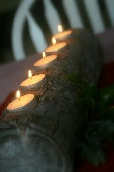 How to- Yule Log Candle Holder