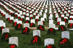 Laying wreaths - Arlington National Cemetery. I might get to put a wreath on one of the graves.