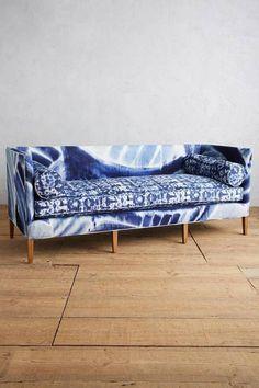 Shibori Printed Harper Sofa.