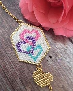 💝💜💙 Design✂️&Photo📸 ➡️Dm miyuki - - - - - - - - - - - - - - - - - - - - - - - - - - Bilgi için ➡️Dm ulaşabilirsiniz 🌟 🌸 • • • • #miyuki… Seed Bead Jewelry, Seed Bead Earrings, Beaded Earrings, Beaded Jewelry, Handmade Jewelry, Beaded Bracelets, Girls Jewelry, Heart Jewelry, Beaded Brooch