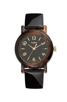 Tortoiseshell watch.