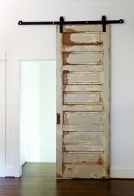 Old door on track - so cool!