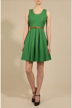 Louche Noviaz Green Dress