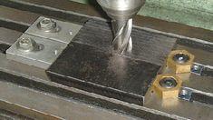 Low profile milling table workpiece clamps Cnc Machine Tools, Milling Machine, Milling Table, Metal Lathe Tools, Shaper Tools, Diy Cnc, Maker Shop, Metal Shop, Homemade Tools