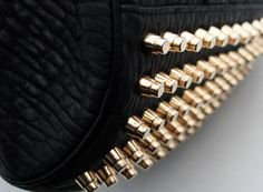 Gold studded purse #fashion