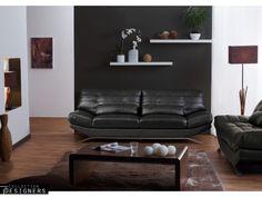 Canapé 3 places en cuir BACKSTAGE II Noir prix promo Vente Unique 599,99 € TTC au lieu de 789,00 €