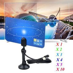 Digital Indoor TV Antenna HDTV DTV Box Ready HD VHF UHF Flat High Gain Lot 110