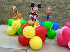 Mickey Mouse Clubhouse birthday party Balloon wood by FalconArte