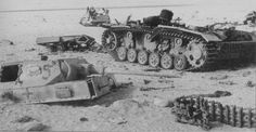 Devastated knocked out Pz.Kpfw III in North Africa 1942 North African Campaign, Erwin Rommel, Afrika Korps, Ww2 Photos, Ww2 Tanks, World Of Tanks, German Army, World War Two, Tanks