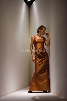 Buy Australia A-line Orange Scoop Neckline Taffeta Floor Length Mother of the Bride Dresses at AU$163.82 - Dresses4Australia.com.au