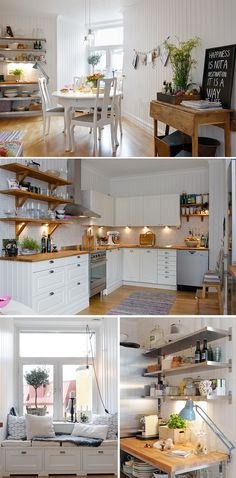 LOVE this kitchen. So airy and sweet.