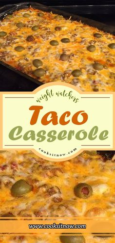 Weight Watchers Taco Casserole This chicken taco casserole is too rich and delicious to be so healthy!  #WW #Weight_Watchers #Taco #Casserole