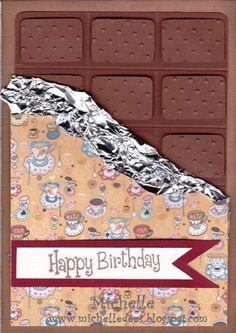 Another chocolatebar card. Happy Birthday Michelle, I Card, Crafts, Nice, October, Manualidades, Handmade Crafts, Craft, Nice France