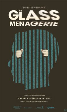 The Glass Menagerie. Design by Nathaniel Cooper. Graphic Design Posters, Graphic Design Illustration, Graphic Design Inspiration, Poster Designs, Digital Illustration, Play Poster, Movie Poster Art, Negative And Positive Space, The Glass Menagerie