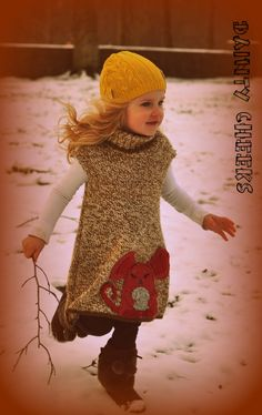 upcycled mouse sweater dress by DaintyCheeksBoutique on Etsy, $43.00