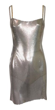 fc7322ff902 Donatella Versace Cocktail Dress - Atelier Versace Kate Moss Runway  Butterfly Metal Chainmail   1999 Metal