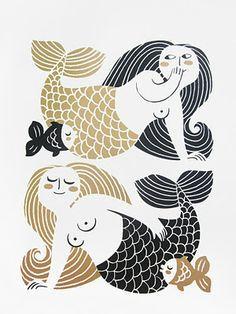 Dancing Kangaroo - The art of Galia Bernstein: More mermaids