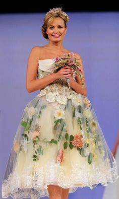 English country garden gown