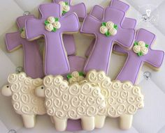 Easter cookies http://cookiecutter.com/cross-cookie-cutter-4-5-in.htm