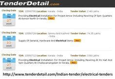 For those who want to apply for electrical tenders, Tender Detail is the best option. It is very #important to stay updated and #informed. The #tenders are issued regularly in all #Indian states.