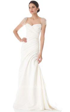 #Valentines #AdoreWe #Dorris Wedding - #Dorris Wedding Long Queen Anne A-line Taffeta Dress With Low-V Back Style - AdoreWe.com