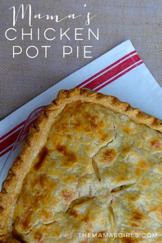 Mama& chicken pot pie - this is way easier than i thought! Chicken Pot Pie Casserole, Casserole Recipes, Pillsbury Pie Crust Recipes, Chicken Pot Pie Recipe Pillsbury, Chicken Pot Pie Recipe Pioneer Woman, Homemade Chicken Pot Pie, Chicken Recipes, Quiches, Crusted Chicken